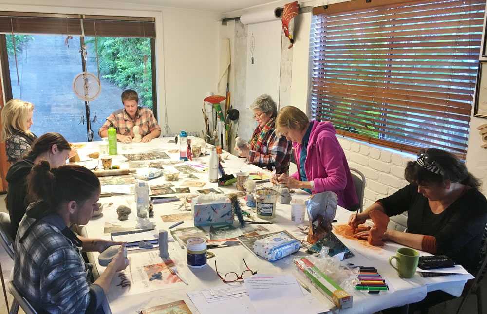 Growth Through Art workshops for men and women